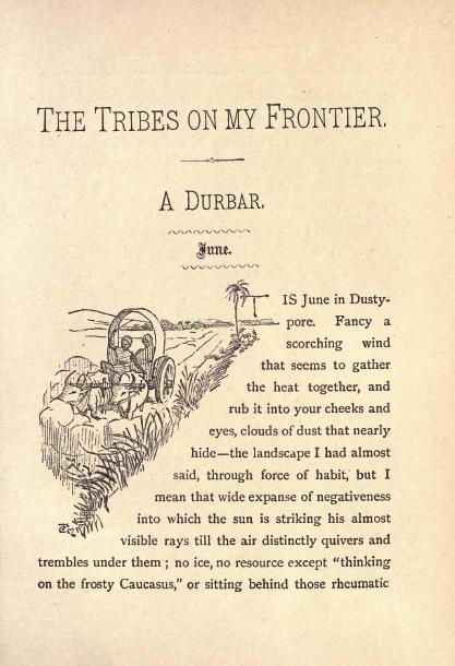 Opening page of ''The Tribes on my Frontier''